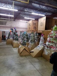 Christmas Trees in Storage