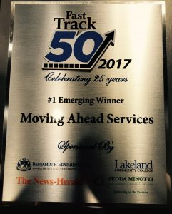 Fast Track 50 Emerging Business, Moving Ahead Services Wins Fast Track 50 Emerging Business